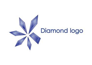 Blue diamond logo design of illustration