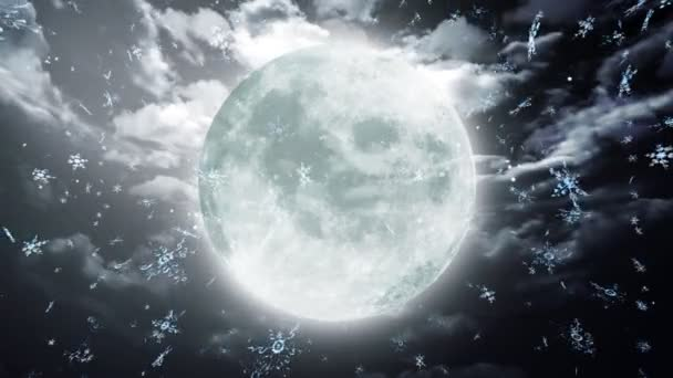 Moon and snow background