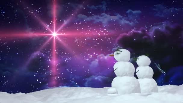 Vánoční sněhulák červená hvězda