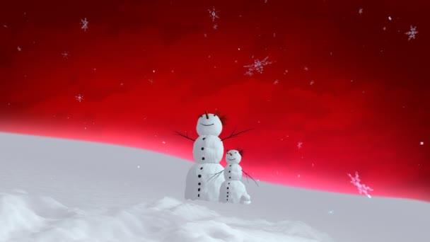 sněhulák a syn červená obloha široký