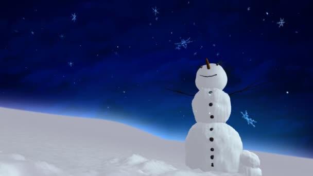 sněhulák modrá obloha