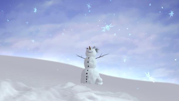 sněhulák sky široký úhel