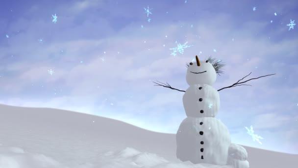 sněhulák obloha