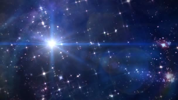 The starry night lens flare star cross in space