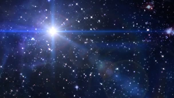 Hvězdné noci objektivu flare hvězda kříž v prostoru