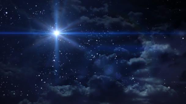 Sternennacht Lens Flare Stern Kreuz im Raum