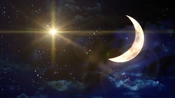 Krásné objektivu flare efekt v měsíční noci pozadí