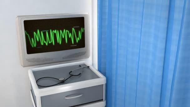 grafický monitor ekg pro zdravotní téma