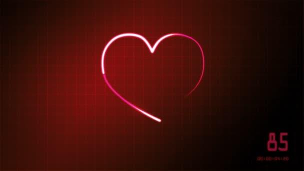 monitor ekg srdce představuje lásku