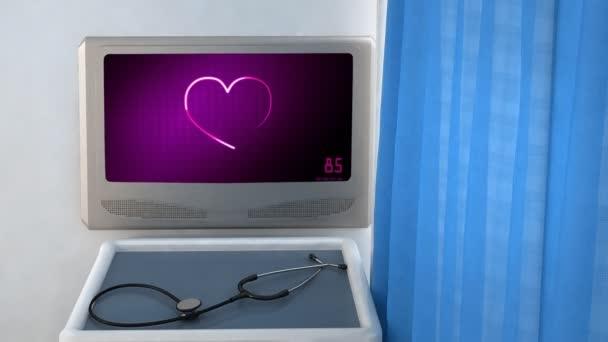 Heart EKG monitor  presenting the love