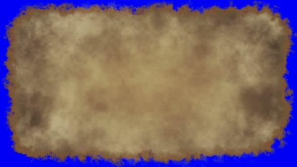 Vintage papír írás kék képernyő