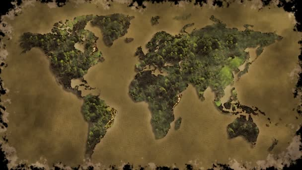 Vintage world map burn black screen