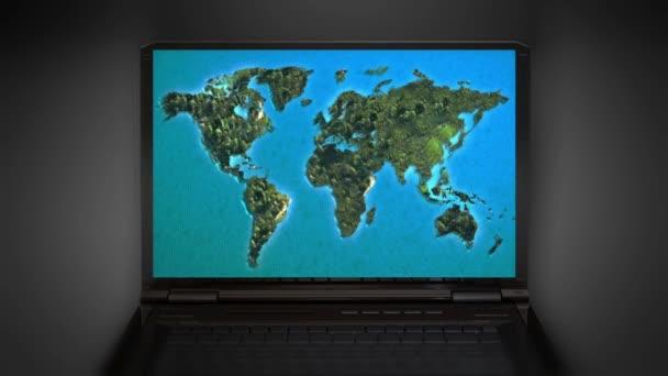 pohyblivou na mapě světa