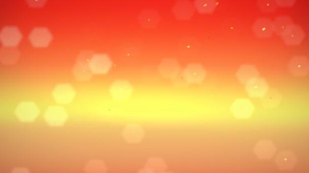 arancione fiocchi di neve e cristalli di neve flare sfondo cadente