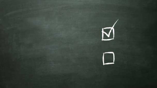 Multiple choice selection concept on blackboard