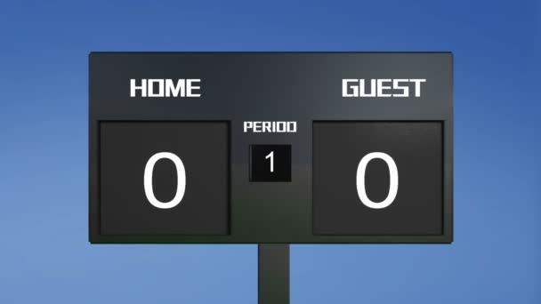 fotbalový zápas tabuli zobrazit cíl výsledek sky pozadí
