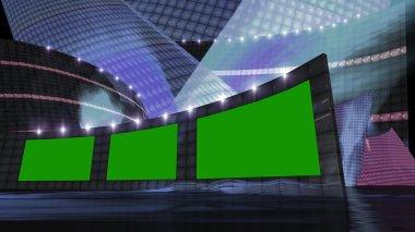 entertainment news virtual set  blue