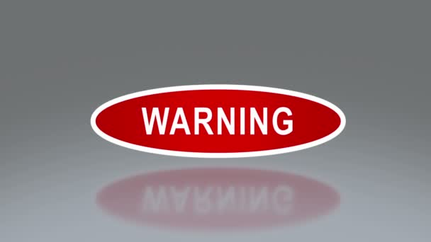 oval signage of warning