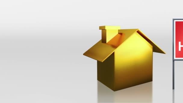 befektetési arany ház nyitott signage hd