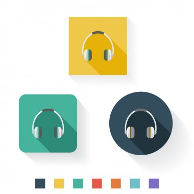 Headphone Flat Icon Design