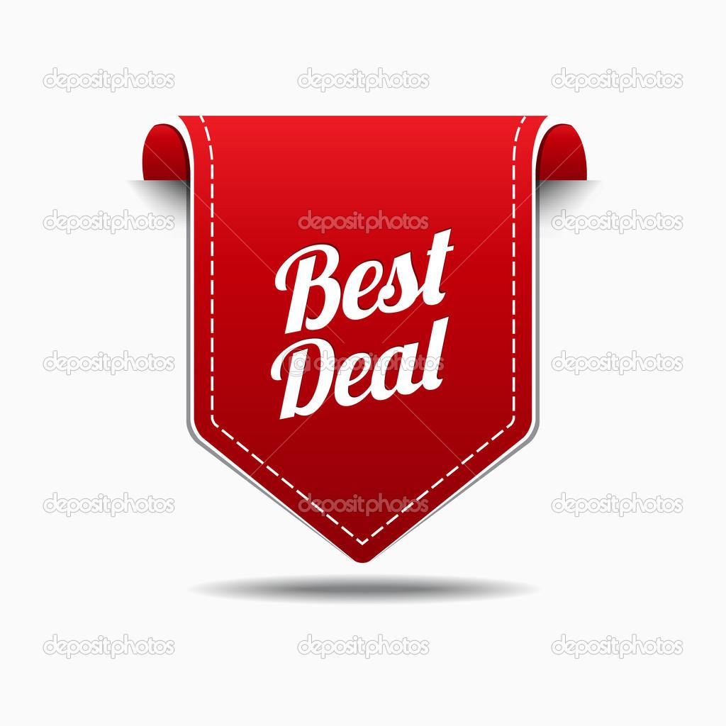 Best Deal Red Label Icon Vector Design — Stock Vector ...