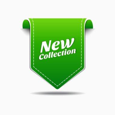 New Green Label Icon Vector Design