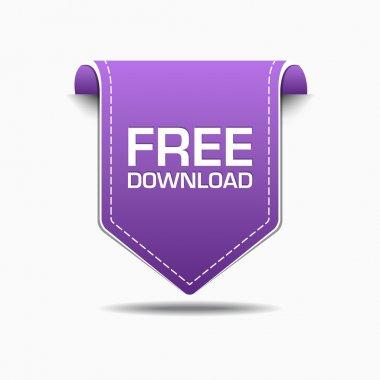 Free Download Purple Label Icon Vector Design