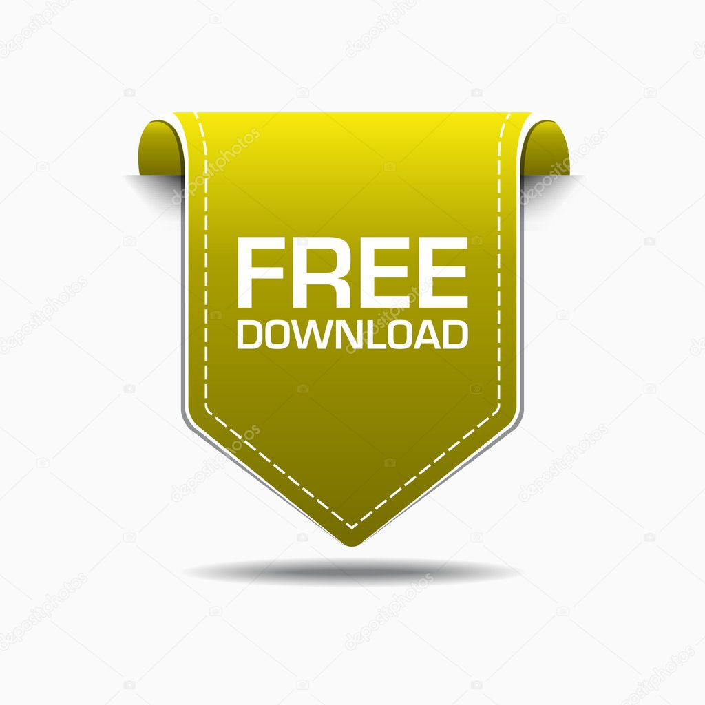 Free Download Yellow Label Icon Vector Design