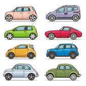 Fotografia set di icone auto