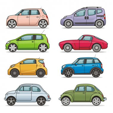 Car icons set (Vector is available) stock vector