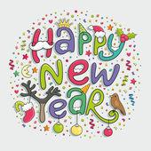 šťastný nový rok ruku, nápisy