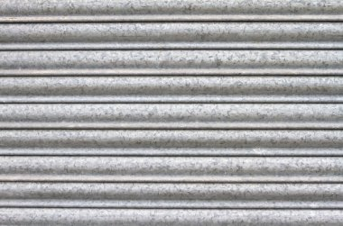metal roller secuirty shutters close up background