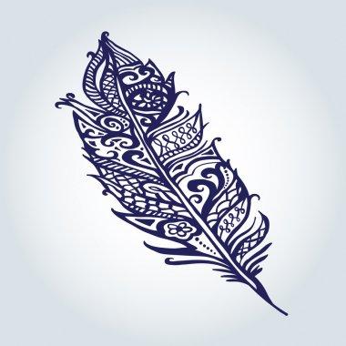 feather graphic illustration