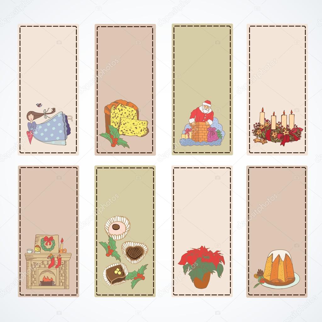 Vectores tarjetas para regalo tarjetas de navidad para for In regalo gratis