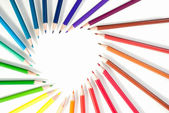 barevné tužky izolovaných na bílém pozadí