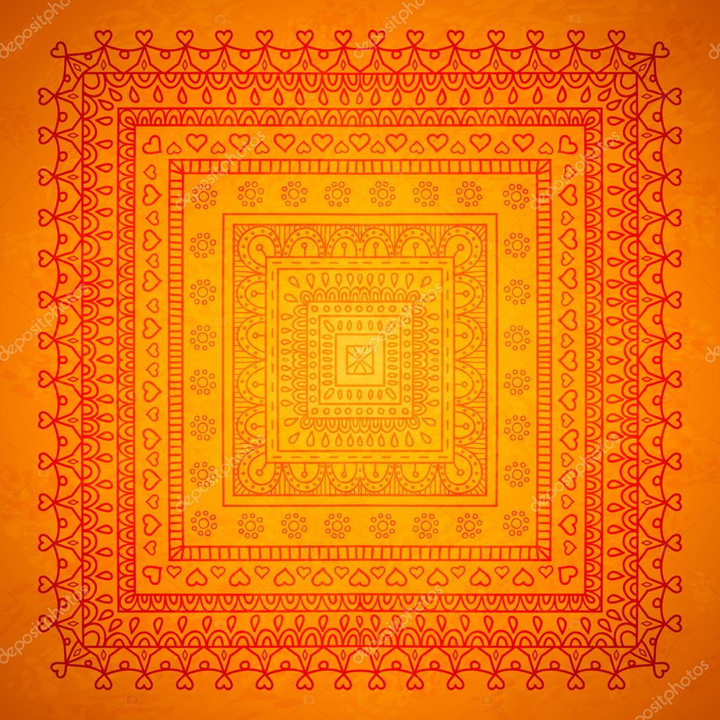 Square orient ornament background