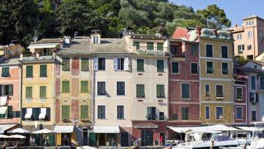 """Картина, постер, плакат, фотообои """"типичные дома, в Портофино Италия"""", артикул 18313643"""