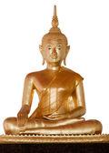 socha Buddhy na bílém pozadí