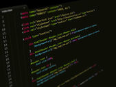 Code,CSS script in text editor
