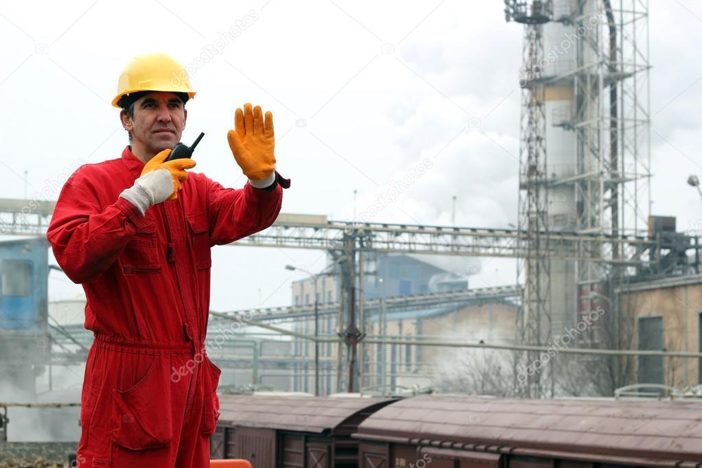 Industrial Worker in Sugar Refinery