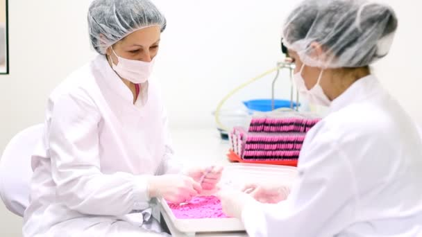 Quality Control Technicians At Pharmaceutical Factory
