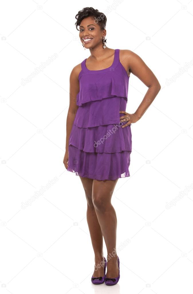 mujer de color morado — Foto de stock © zdenkam #21523555
