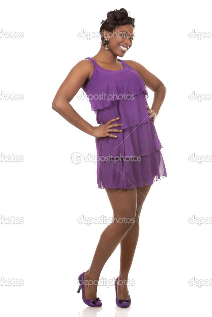 mujer de color morado — Foto de stock © zdenkam #21523767
