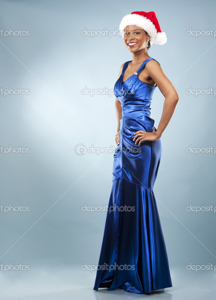 black woman in evening gown — Stock Photo © zdenkam #32840041