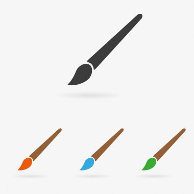 Vector brush icon