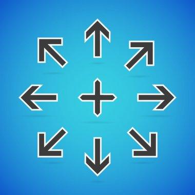 Vector arrow set