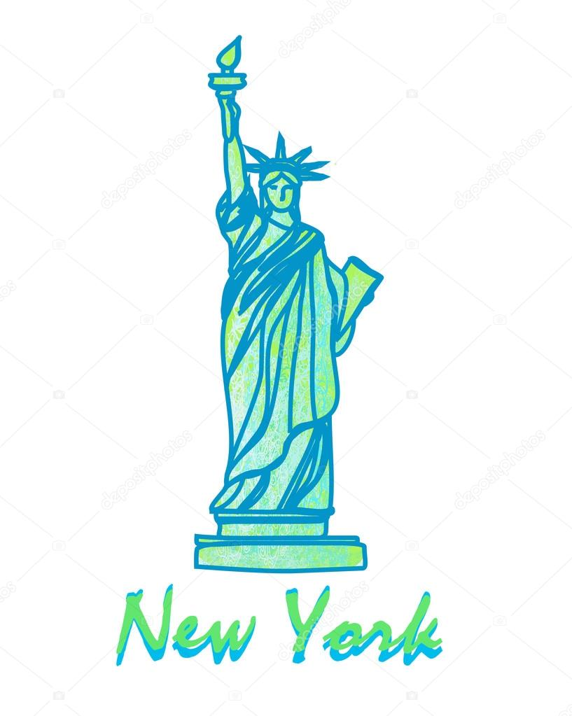 Statue of liberty symbol of new york city stock vector statue of liberty symbol of new york city stock vector buycottarizona Image collections