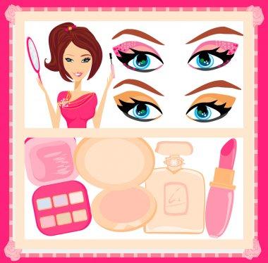 Make-up girl poster