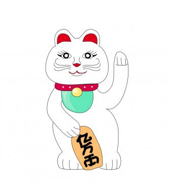Traditional Chinese Cat of Luck. Some believe it attracts good f