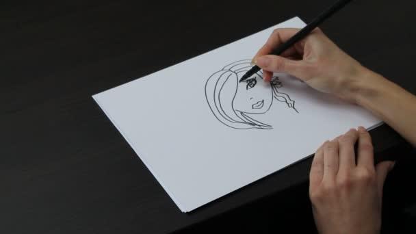 kreslení portrét ženy